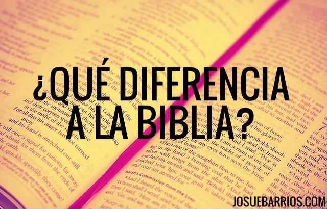 ¿Qué diferencia a la Biblia de todos los otros libros?